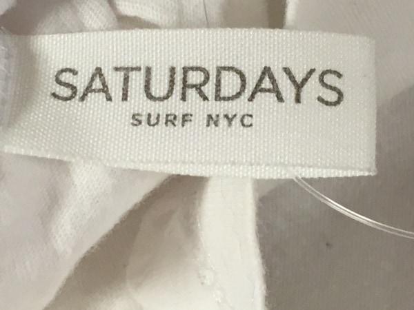 サタデーズ サーフ ニューヨーク 半袖Tシャツ サイズS メンズ 白×ネイビー×黒