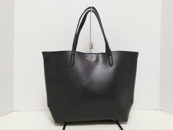 ヴィクトリアシークレット トートバッグ美品  黒 PVC(塩化ビニール)