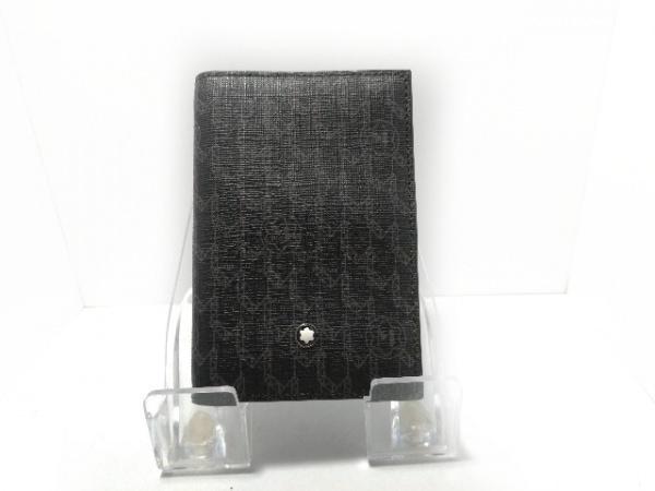 MONTBLANC(モンブラン) 名刺入れ美品  黒×グレー レザー