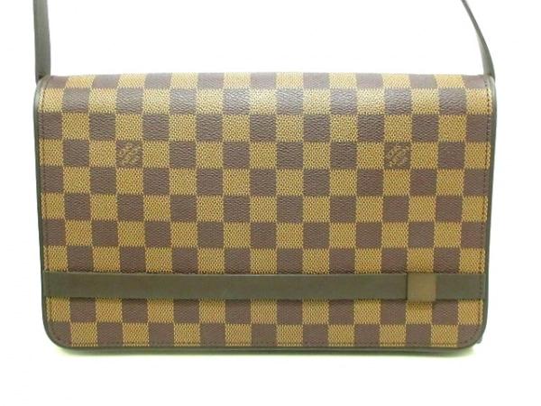 ルイヴィトン ショルダーバッグ ダミエ美品  トライベッカ・ロン N51160 エベヌ