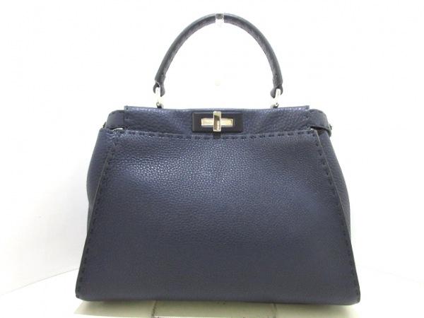 FENDI(フェンディ) ハンドバッグ美品  ピーカブー/セレリア 8BN290 ナイトブルー