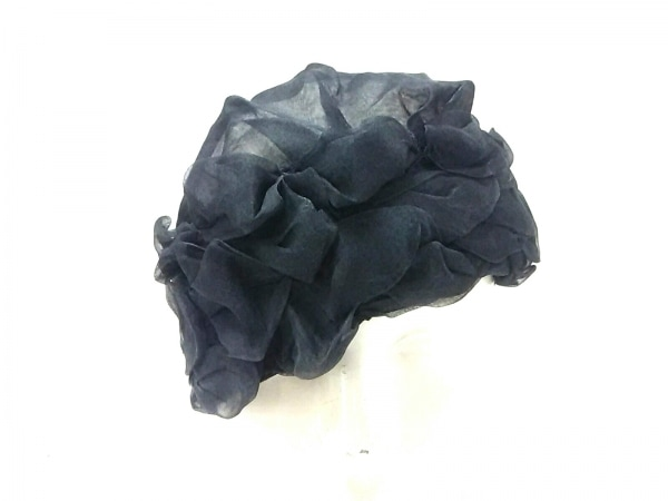 maxim(マキシン) 帽子 黒 シルク