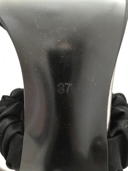 グレースコンチネンタル ミュール 37 レディース 黒×ライトグリーン×クリア