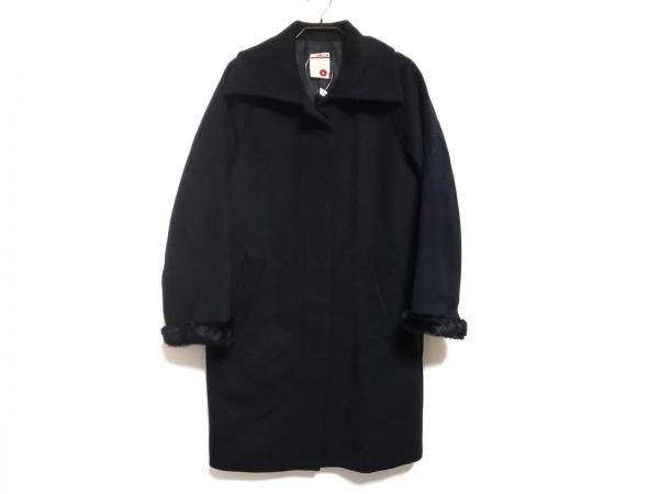 BACCA(バッカ) コート サイズ34 S レディース 黒 冬物/フェイクファー