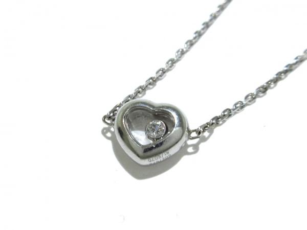 ショパール ネックレス美品  ハッピーダイヤモンド 81/6070 K18WG×ダイヤモンド