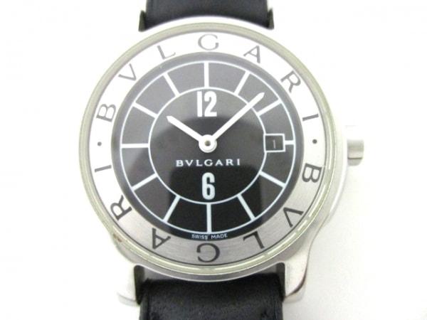 BVLGARI(ブルガリ) 腕時計 ソロテンポ ST29S レディース 黒×シルバー
