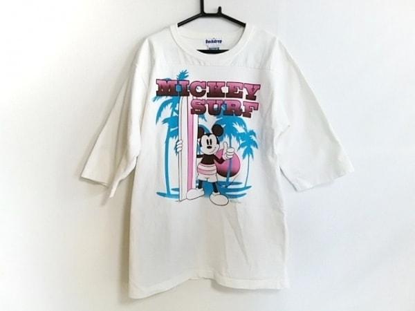 バックドロップ 半袖Tシャツ サイズL メンズ美品  アイボリー×マルチ Disney