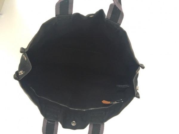エルメス トートバッグ フールトゥトートMM 黒×グレー シルバー金具 キャンバス