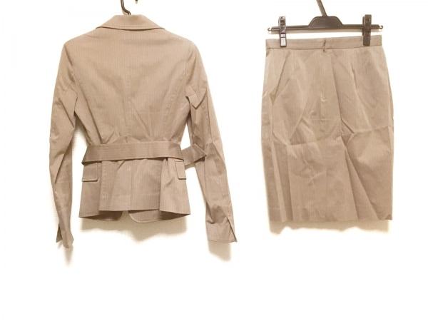 UNTITLED(アンタイトル) スカートスーツ サイズ1 S レディース ベージュ ストライプ