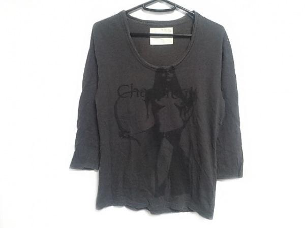 CHARMCULT(チャームカルト) 七分袖Tシャツ サイズ1 S メンズ ダークグレー×黒