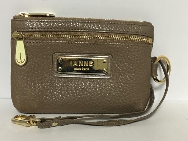 イアンヌ 財布 シャルル ブラックベリー ダークブラウン 5連キーフック付き レザー