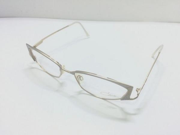 カザール メガネ MOD.431 クリア×ゴールド×ライトグレー プラスチック×金属素材