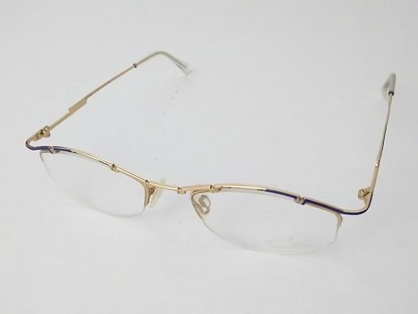 CAZAL(カザール) メガネ MOD.405 クリア×ゴールド×ブルー プラスチック×金属素材