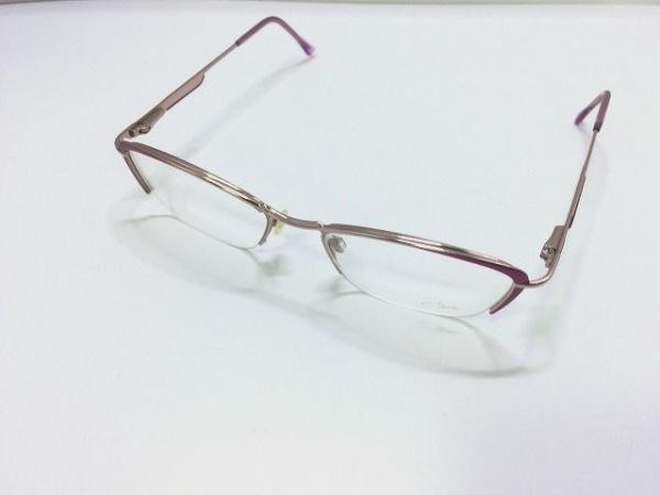 カザール メガネ MOD.480 クリア×ピンクゴールド×ピンク プラスチック×金属素材