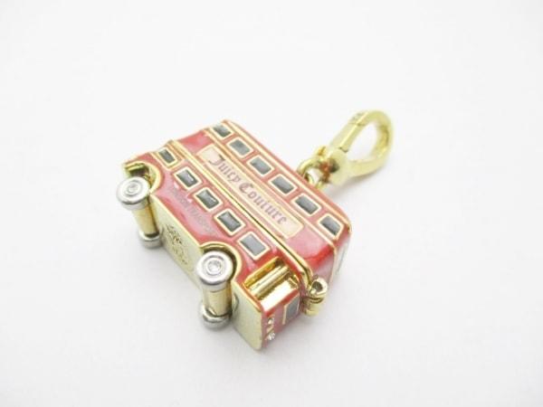 ジューシークチュール キーホルダー(チャーム) ゴールド×レッド×黒 金属素材