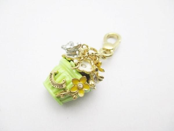 ジューシークチュール キーホルダー(チャーム) ゴールド×ライトグリーン×マルチ