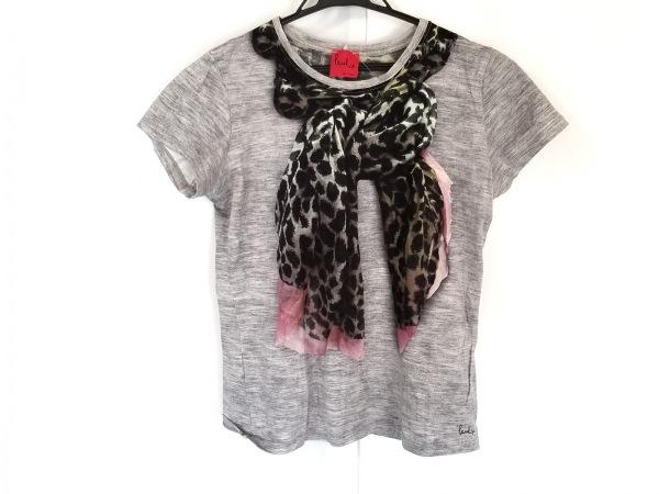 ポールスミスプラス 半袖Tシャツ サイズM レディース グレー×黒×ピンク