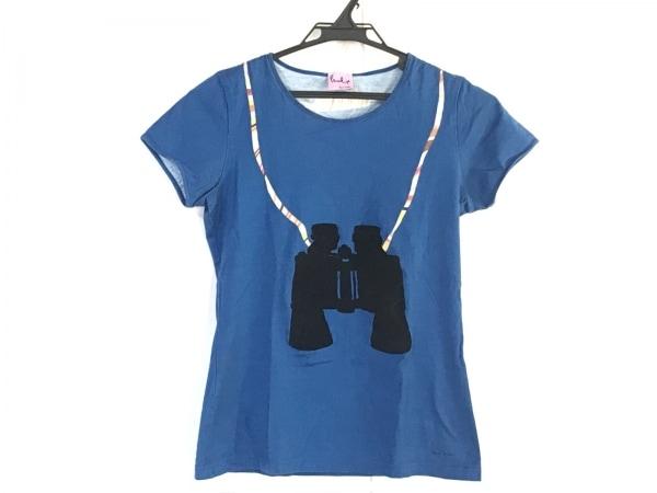 ポールスミスプラス 半袖Tシャツ サイズM レディース ブルー×黒×マルチ
