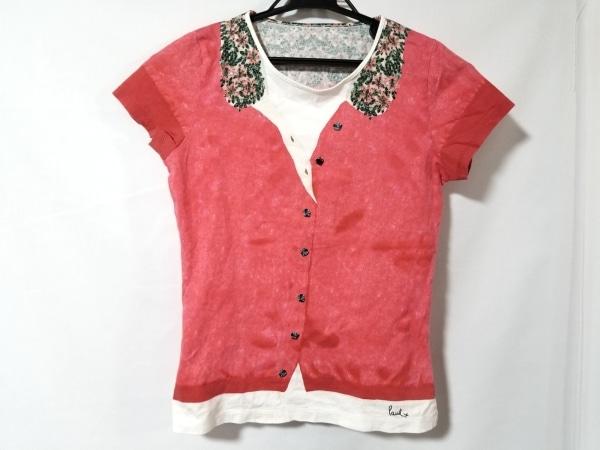 ポールスミスプラス 半袖Tシャツ サイズM レディース レッド×白×グリーン