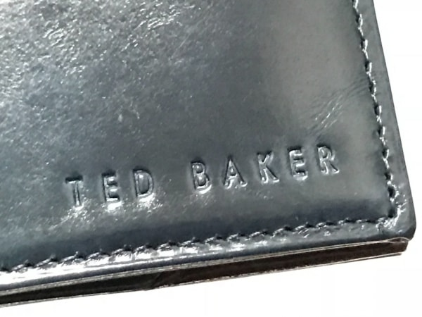 TED BAKER(テッドベイカー) カードケース ダークネイビー レザー