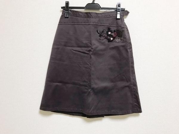 モスキーノ チープ&シック スカート レディース美品  パープル フラワー