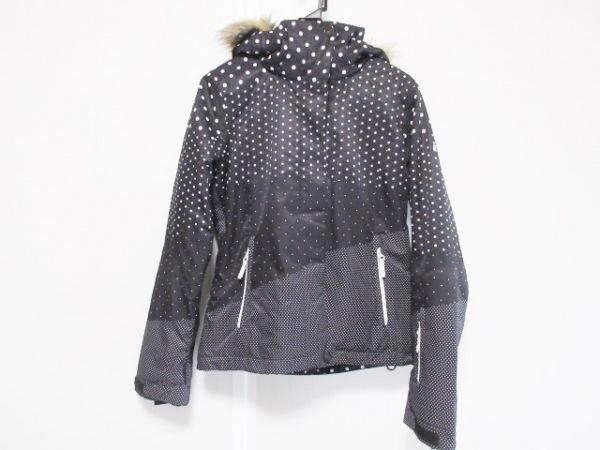 Roxy(ロキシー) ダウンジャケット サイズS レディース 黒×白