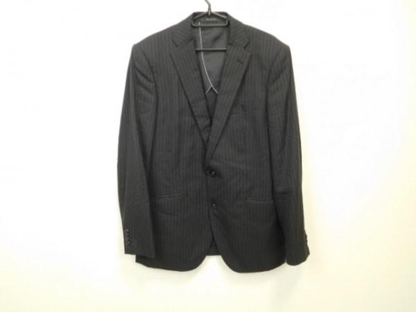 ムッシュニコル ジャケット サイズ50 メンズ美品  黒×グレー×ダークブラウン