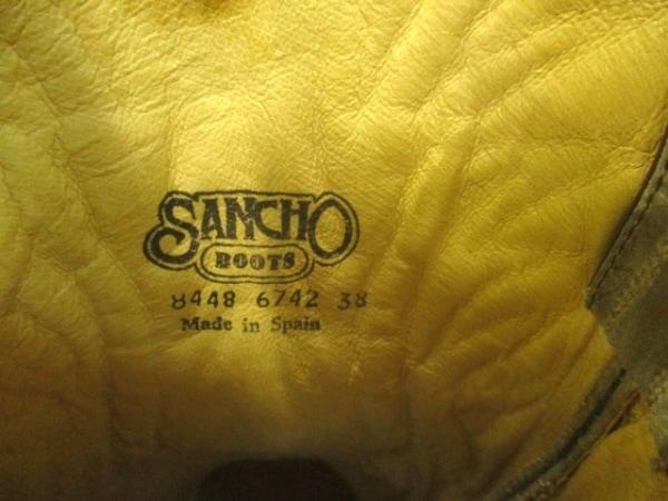 サンチョ ロングブーツ 38 レディース ベージュ ウエスタンブーツ 9