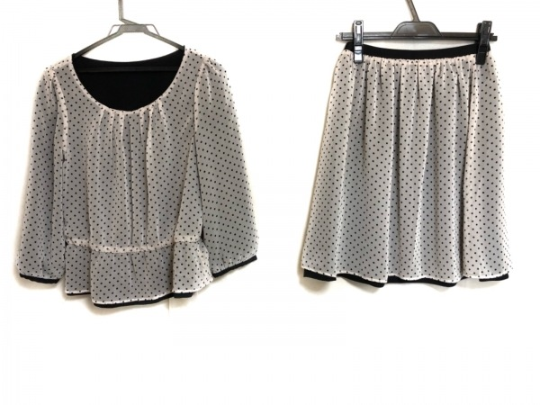 anySiS(エニシス) スカートセットアップ サイズ2 M レディース美品  黒×白