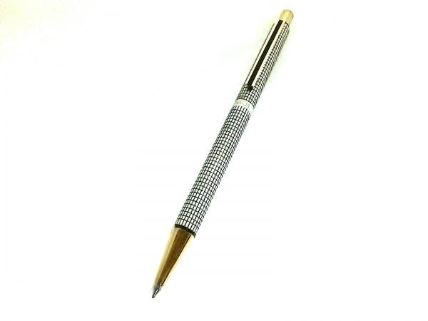 セーラー ボールペン美品  シルバー×ダークグレー×ゴールド インクなし 金属素材
