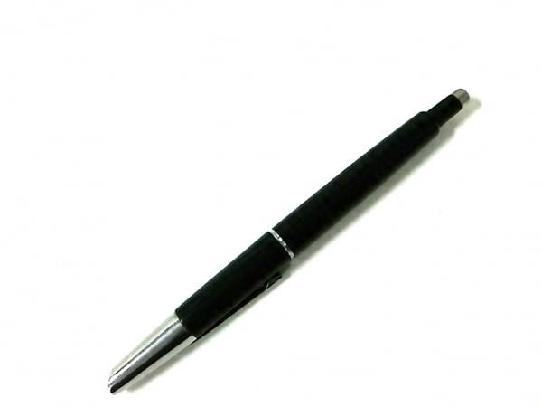 パイロット 万年筆美品  黒×シルバー インクなし/ノック式 プラスチック×金属素材