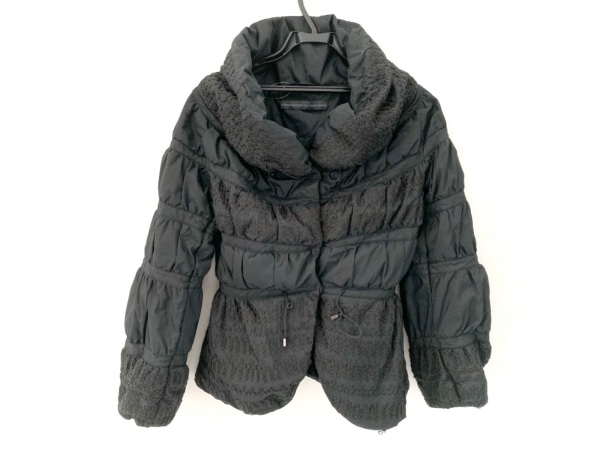エルマノシェルビーノ ダウンジャケット サイズ40 M レディース美品  黒 冬物
