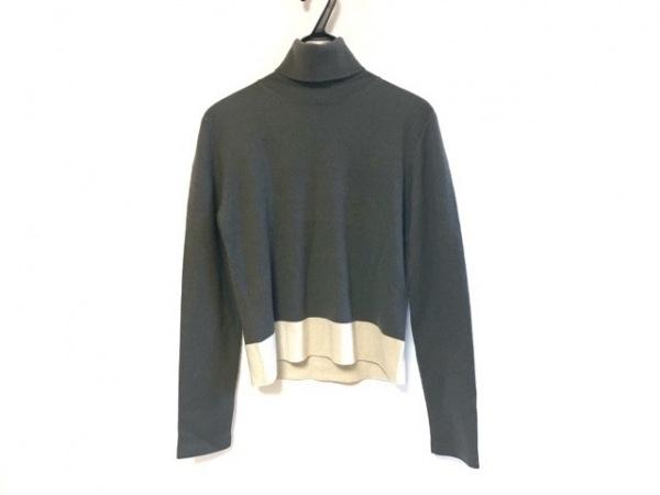 TSE(セイ) 長袖セーター サイズM レディース グレー×アイボリー