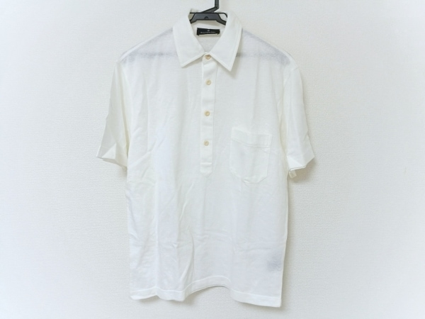 ErmenegildoZegna(ゼニア) 半袖ポロシャツ レディース美品  アイボリー