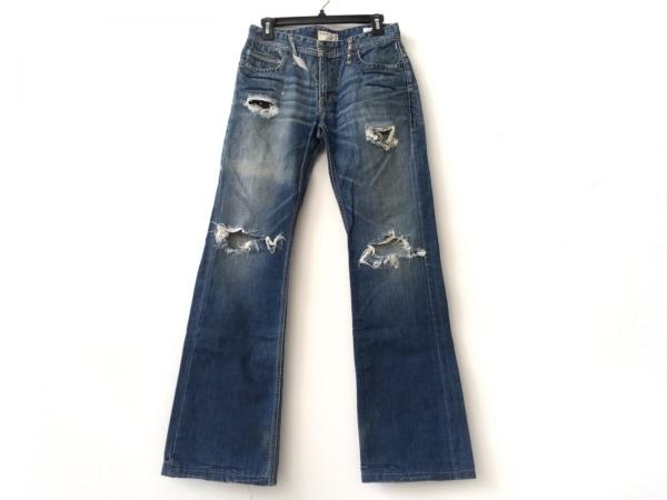 タバニティソージーンズ ジーンズ サイズ30 メンズ ブルー×アイボリー ダメージ加工