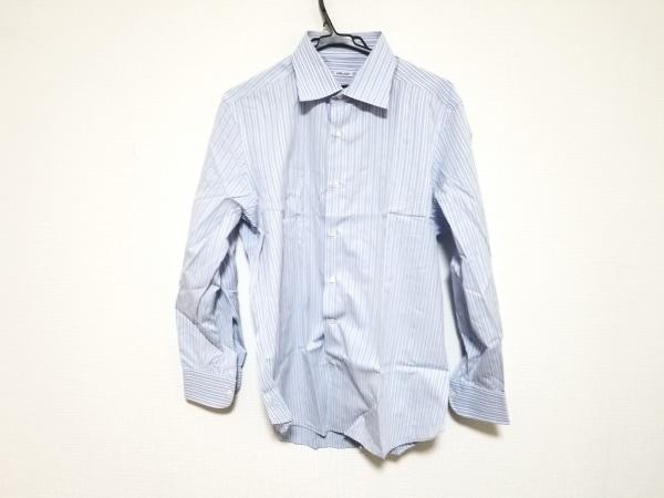 FRAY(フレイ) 長袖シャツ サイズ17/43 メンズ美品  ライトブルー×マルチ ストライプ