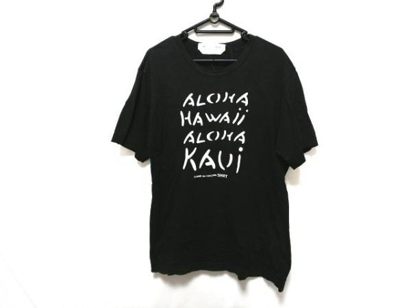 COMMEdesGARCONS SHIRT(コムデギャルソンシャツ) 半袖Tシャツ サイズL メンズ 黒×白