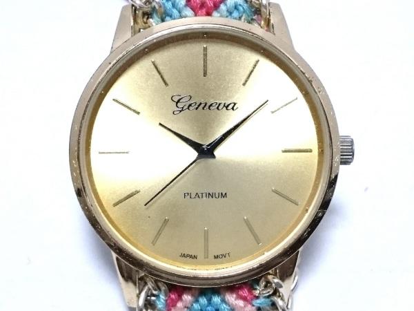 GENEVA QUARTZ(ジェネバクォーツ) 腕時計 - レディース ゴールド