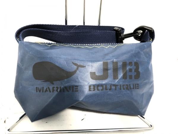 JIB(ジブ) ハンドバッグ ネイビー×黒 ミニサイズ ナイロン