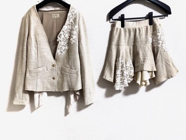 Re.Verofonna(ヴェロフォンナ) スカートスーツ レディース ベージュ×アイボリー