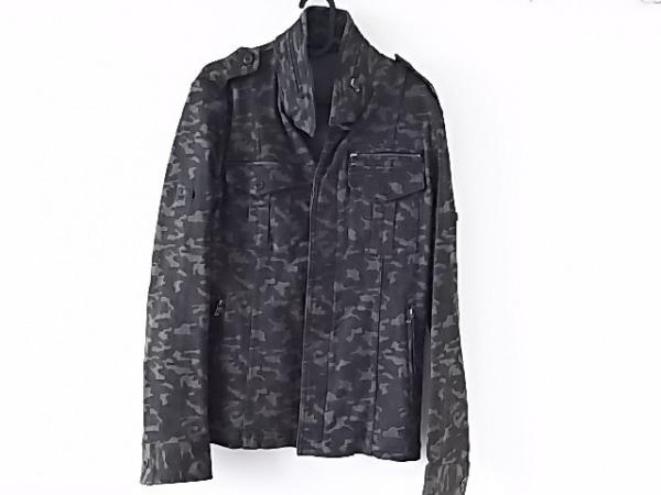 SHELLAC(シェラック) ジャケット サイズ48 XL メンズ美品  黒×ダークグリーン 迷彩柄