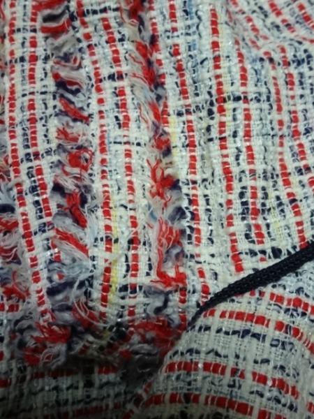 rous(ラス) 半袖カットソー サイズ38 M レディース美品  アイボリー×レッド×マルチ