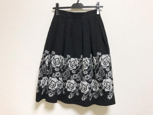 Lois CRAYON(ロイスクレヨン) スカート サイズM レディース美品  黒×白 花柄