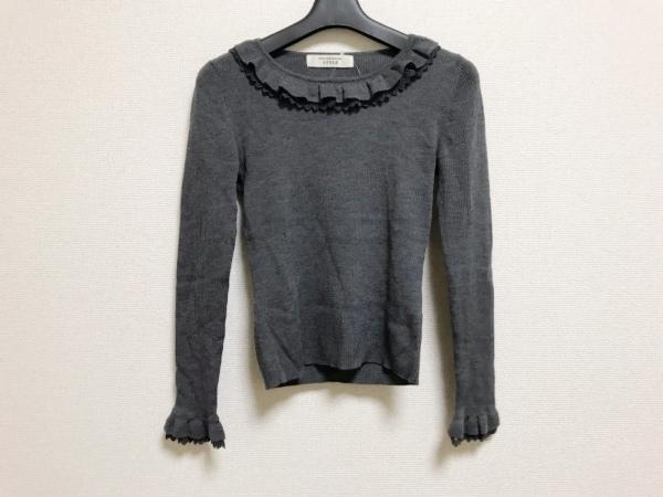 コージワタナベ スタイル 長袖セーター サイズM レディース美品  ダークグレー フリル