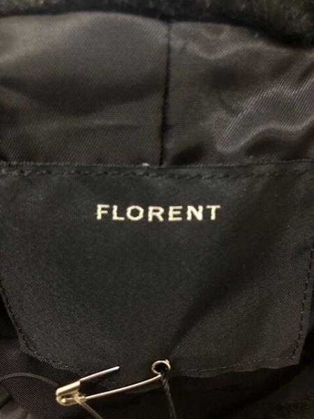 FLORENT(フローレント) コート サイズF レディース美品  黒 冬物/フェイクファー