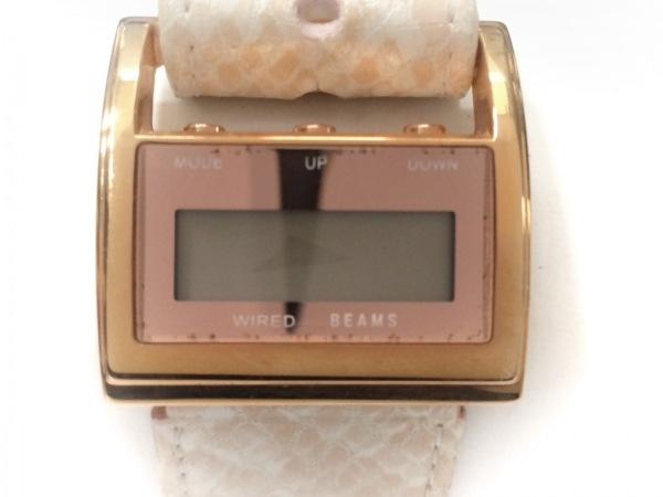 bpr BEAMS(ビームス) 腕時計 W543-0AE0 レディース ピンク×カーキ