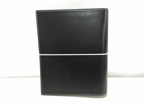 Filofax(ファイロファックス) 手帳美品  ドミノ 黒 A5/ゴムバンド式 合皮