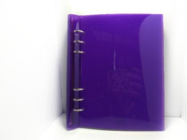 Filofax(ファイロファックス) 手帳美品  クリップブック パープル A5 ビニール