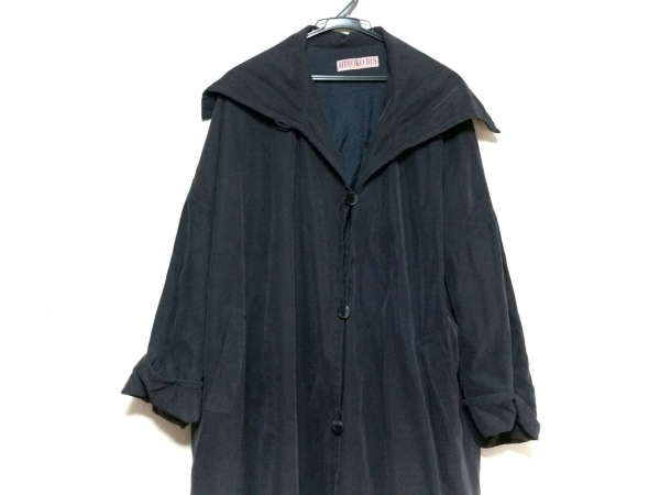 HIROKO BIS(ヒロコビス) コート サイズ9AT M レディース美品  ダークグレー 冬物