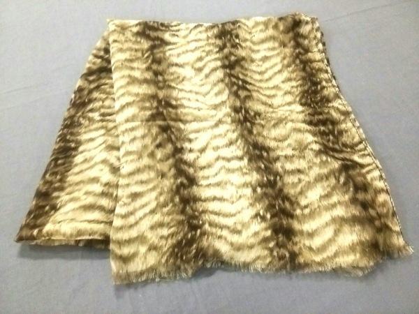 VALENTINO(バレンチノ) スカーフ美品  ベージュ×ダークブラウン パイソン柄